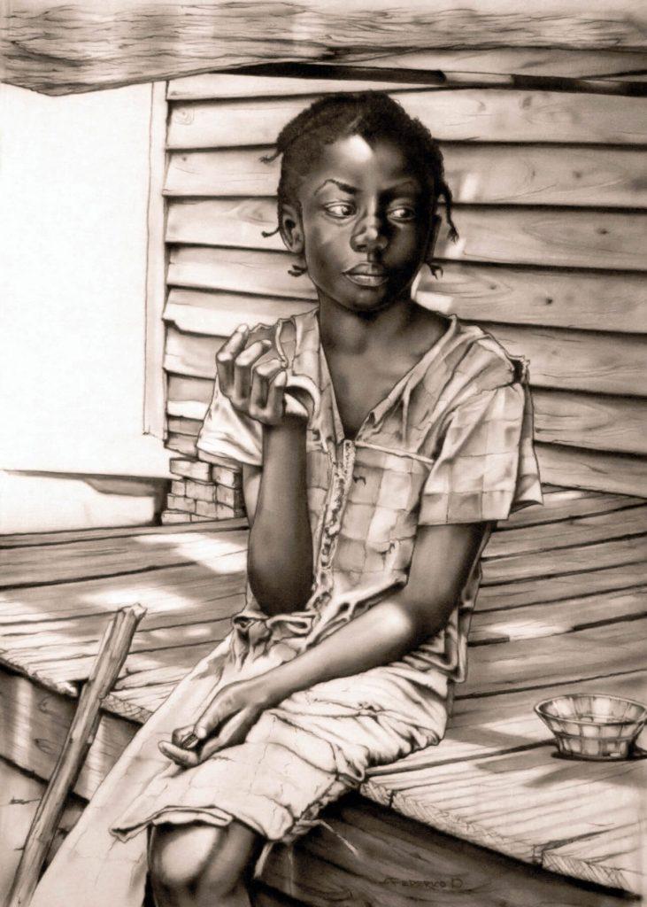 Alyn Federico, Top Gun Inc: Delta Girl, pencil and graphite on paper