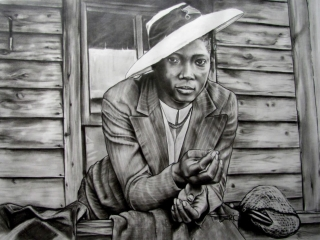 Alyn Federico, Top Gun Inc: Georgia, pencil and graphite on paper