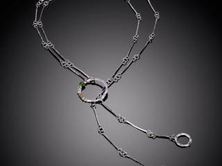 Celeste Friend Designs, handcrafted metal necklace, handcrafted jewelry, handcrafted bracelet, diamonds, metal jewelry, simple, classic jewelry