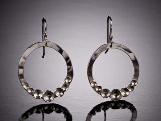 Celeste Friend Designs, handcrafted metal earrings, handcrafted jewelry, handcrafted bracelet, diamonds, metal jewelry, simple, classic jewelry