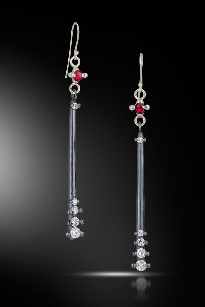 Isabelle Ecker Jewelry: Crater, crown earrings, handcrafted jewelry, wedding jewelry, wedding band, engagement, handcrafted, diamonds