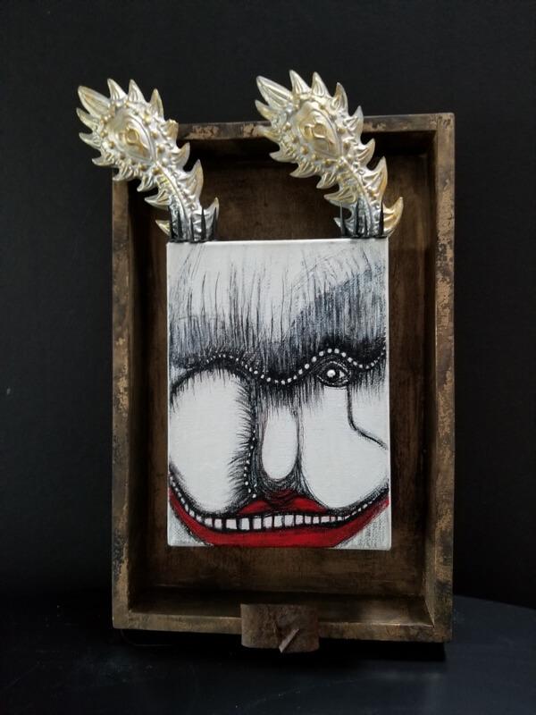 Frockks by Barbara Berkowitz: Frockk Portrait in Shadowbox. The Original Freaky Rocks