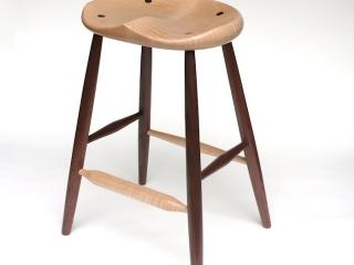 Gabor Ruzsan, GARNY & Co.: Counter Stool (Tiger Walnut), handmade furniture
