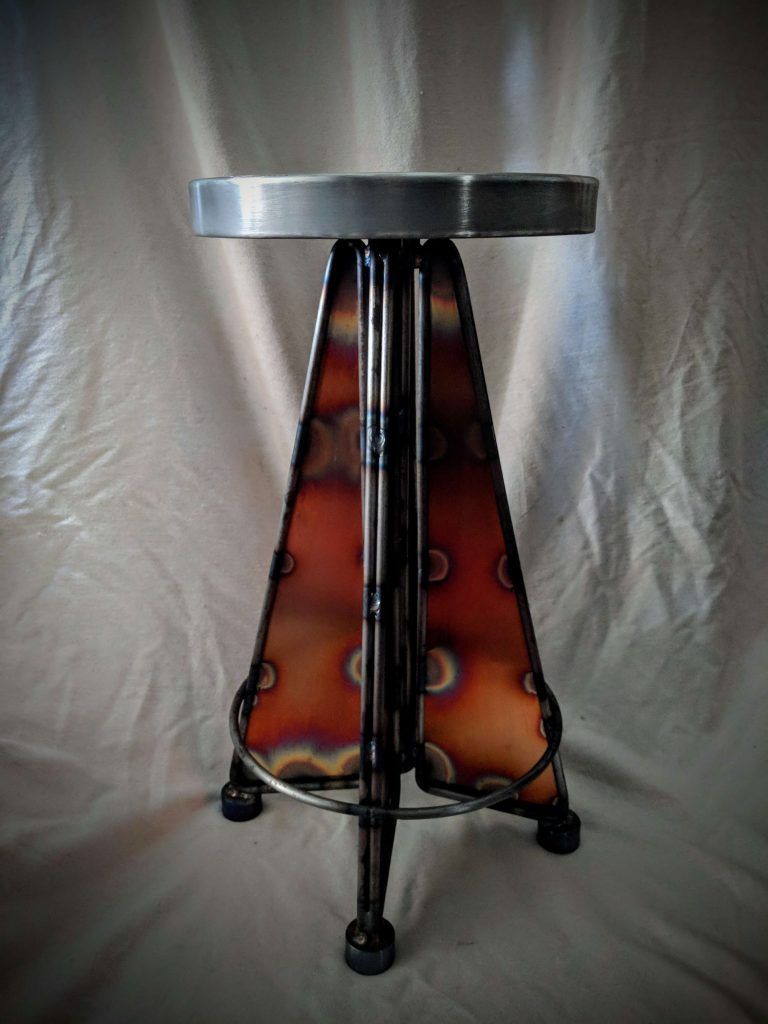 Iron Rose Gallery by John Mocioi: Zinc and Copper Stool