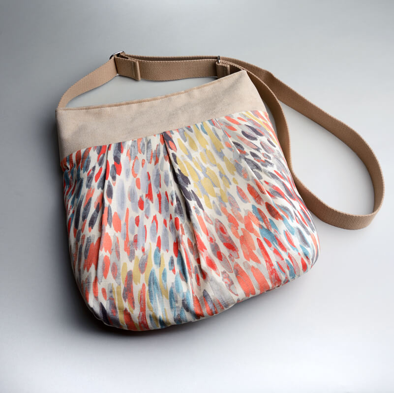 Recycled fibers are hand dyed, quilted, distressed, designed and sewn into one-of-a-kind bags. JENCI by Jennifer Couch: Raindrop Pleated Bag