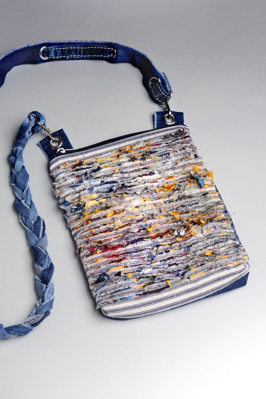 JENCI by Jennifer Couch: Slashed Bag with Denim Strap