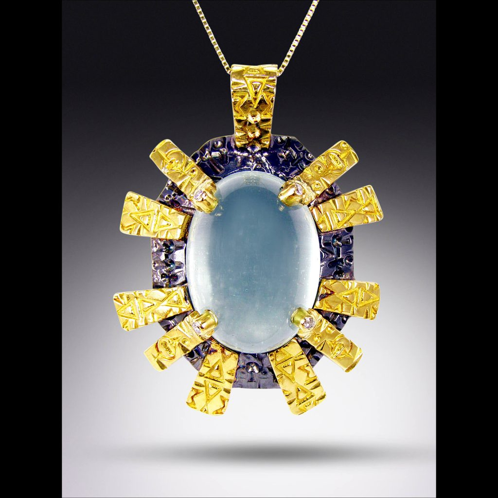 Jason McLeod Jewelry: Ancient Future Pendant, time traveler series, handcrafted jewelry, handcrafted necklace, metalsmith