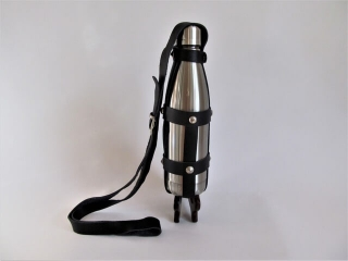 Lillys Allure by Frank and Lilly Maniscalco: Leather Bottle Holder, handcrafted leather accessory