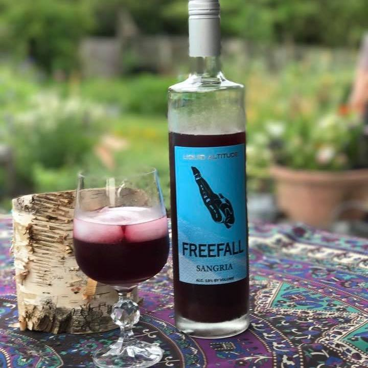 Freefall Sangria by Liquid Altitude, Hudson valley winery, Hudson valley sangria, Hudson valley wine