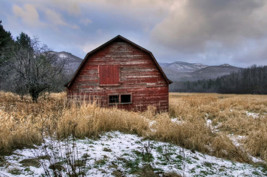 Michael Sandy, Michael Sandy Photography: Adirondack Barn, country photography, old red barn, Catskills, Adirondack mountains, upstate ny, snow, winter