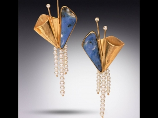 Sue Stone Jewelry, handcrafted earrings, handcrafted jewelry, semi-precious stones, gold, pearls