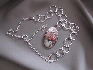 Karen Tretiak: Crazy Lace Agate Necklace , handcrafted necklace