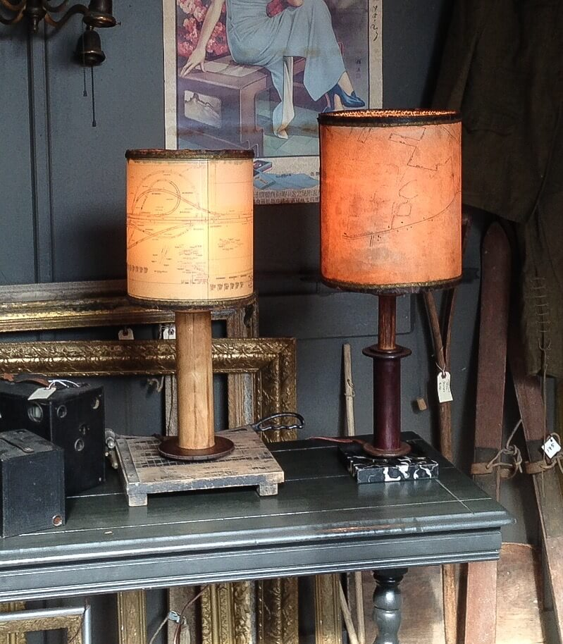 light touch by Kathie Fitzgerald, handmade lamps mixed media