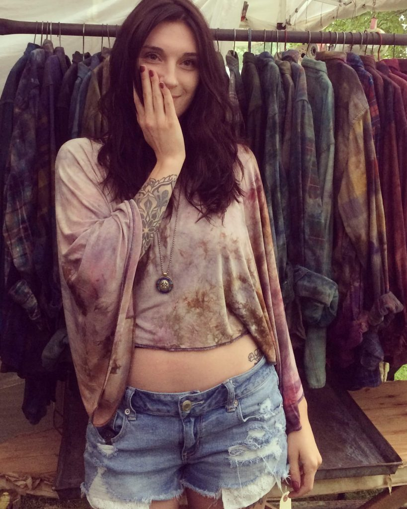 Rough & Tumble Vintage by Wendy Wehmeyer, tie dye, handmade, top top, bohemian clothes, fiber art