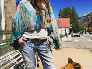 Rough & Tumble Vintage by Wendy Wehmeyer, tie dye, handmade, bohemian clothes, fiber art