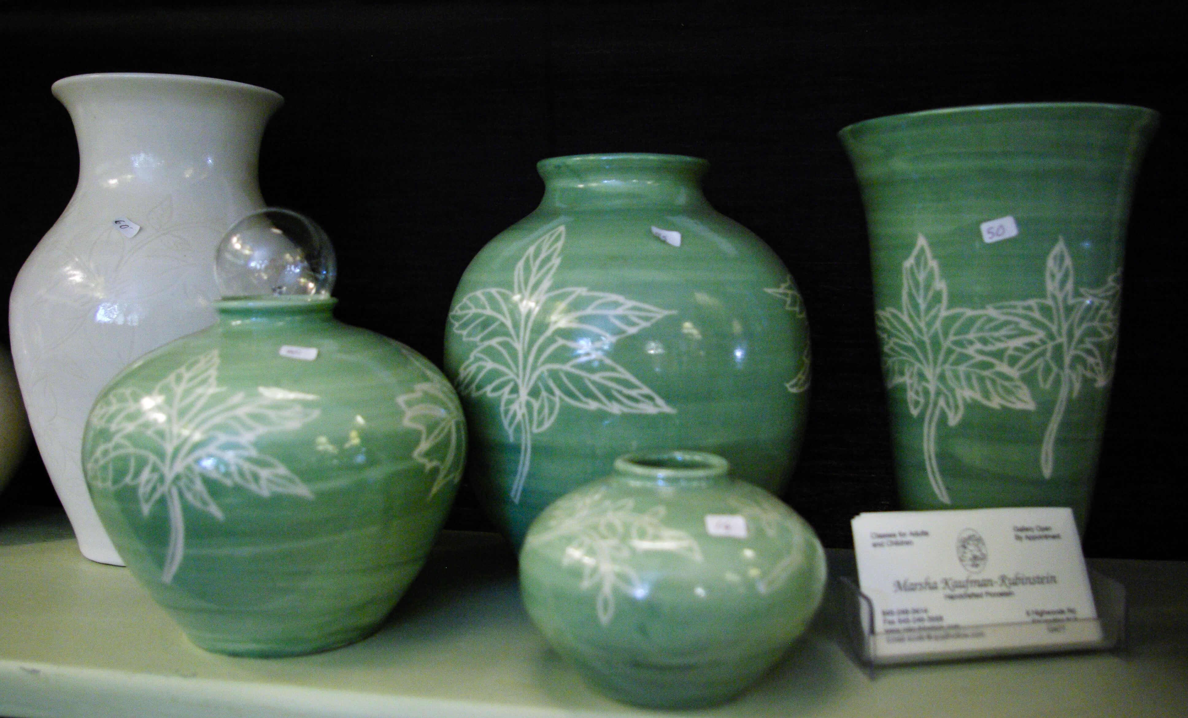 Marsha Kauffman Rubinstein, Porcelain Pottery, handmade ceramics