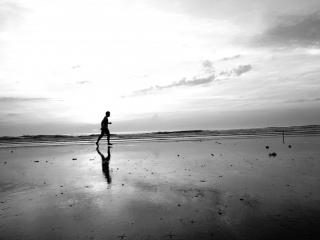 Vondeck Images by Amanda Decker: Walking Man, Fine Art Photography, New York