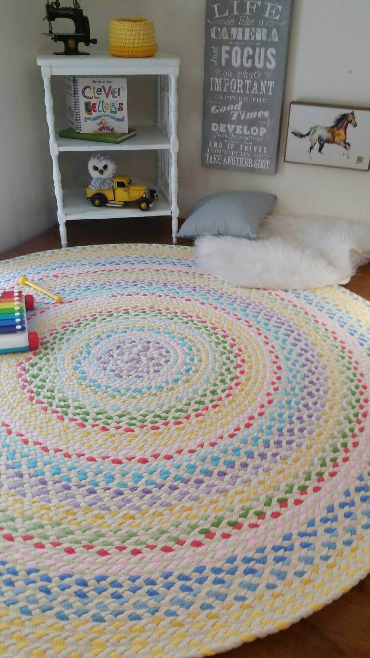 Green at Heart Rugs by Laurine Rohl, t-shirt rugs, kids room rugs, kids decor, handmade rugs