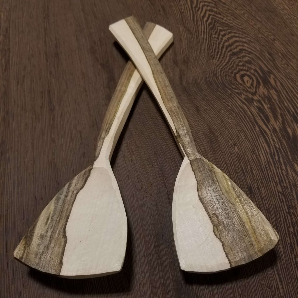 Stonehouse Kuksa by Eric Doherty: Maple Spoon Set, handmade spoons, hand carved spoons, woodcarving,