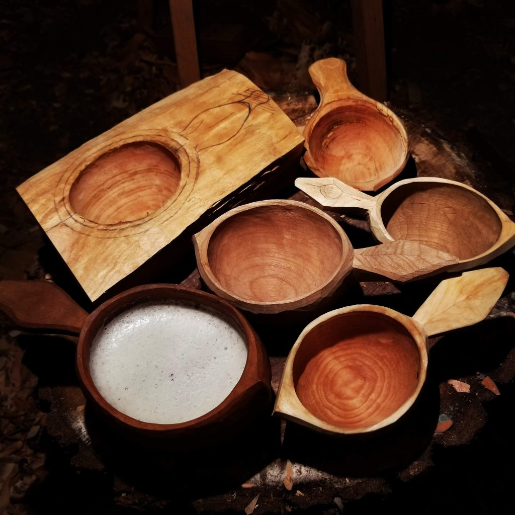 Stonehouse Kuksa by Eric Doherty: Maple Spoon Set