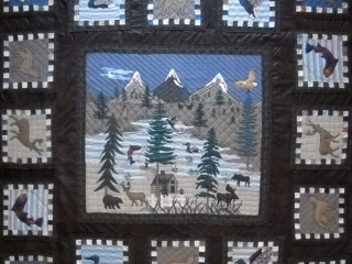 The Quilt Ranch by Jennifer Pate: The Lodge Quilt, handmade quilts, fiber art