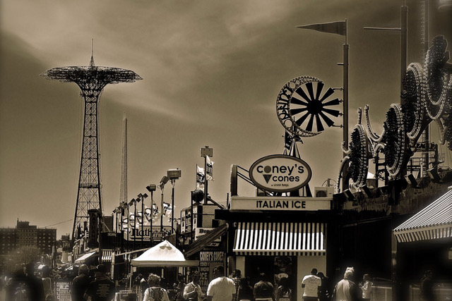 "Gwen & Marty Wyenn: YN Photography - Reflections Gallery: ""Coney Island Boardwalk Memories"", fine art photography, cony island photography"