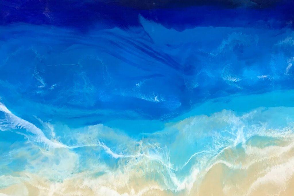 Nikita Fine Art by Nicole Hughes, mixed media art, abstract, cutting board, handmade,