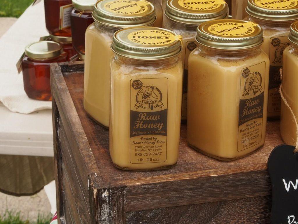 Laura's Raw Honey from Doan's Honey Farm, handcrafted specialty foods, beekeeper, honey, raw honey, handmade