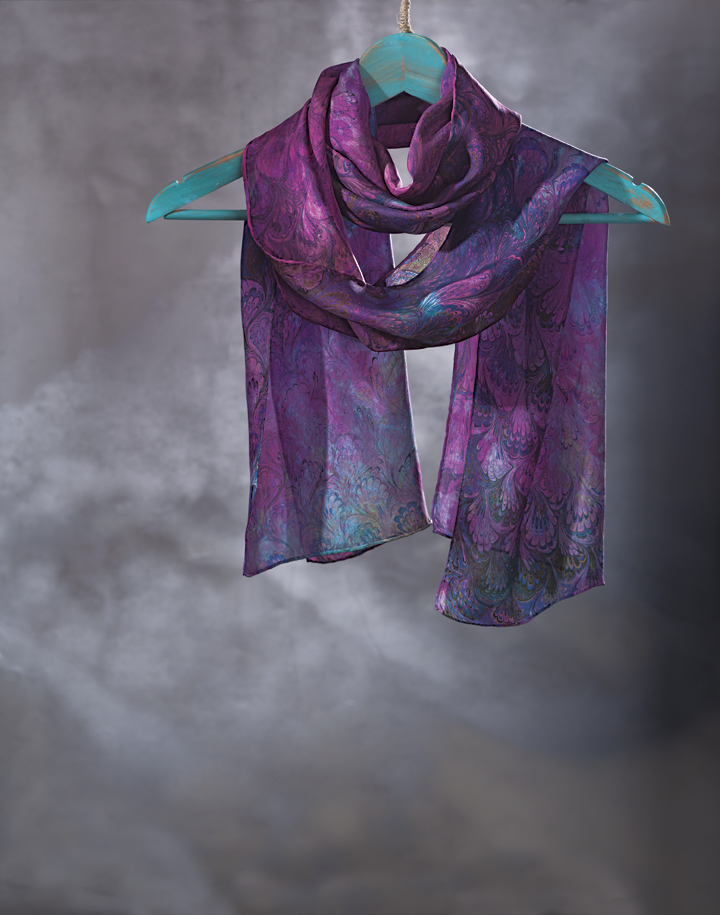 Shibumi Silks by Patricia Disantis, silk-making, silk-painting, fiber art, process, silk scarves, handmade