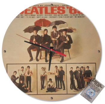 The Tunes Company by Bob Ross: Custom Vintage Record Clock, the Beatles, records, vintage, handmade
