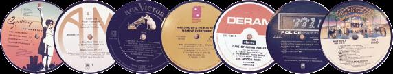 The Tunes Company by Bob Ross: Custom Vintage Record Clock, the Beatles, records, vintage, handmade, coasters