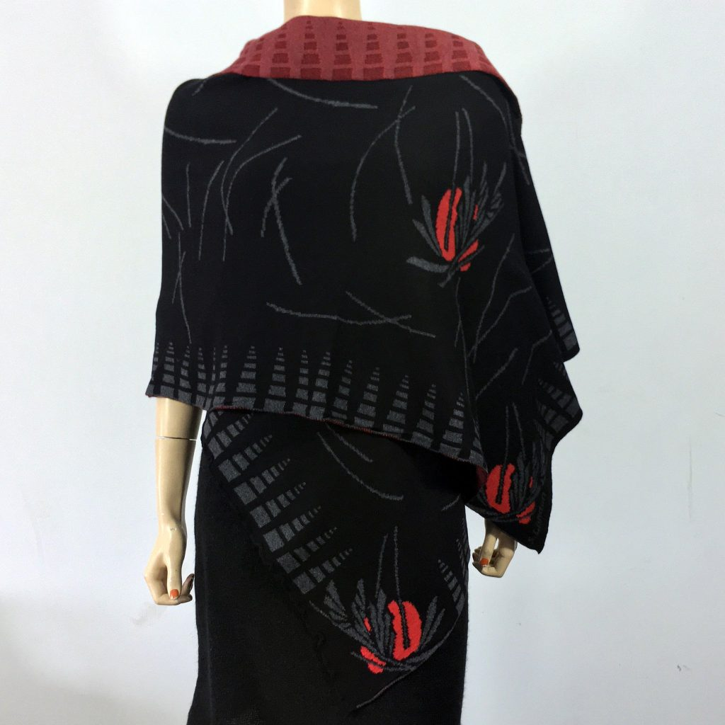 Sharon London, Egyptian Cotton Shawl, handmade shawl, handmade wrap, fiber art