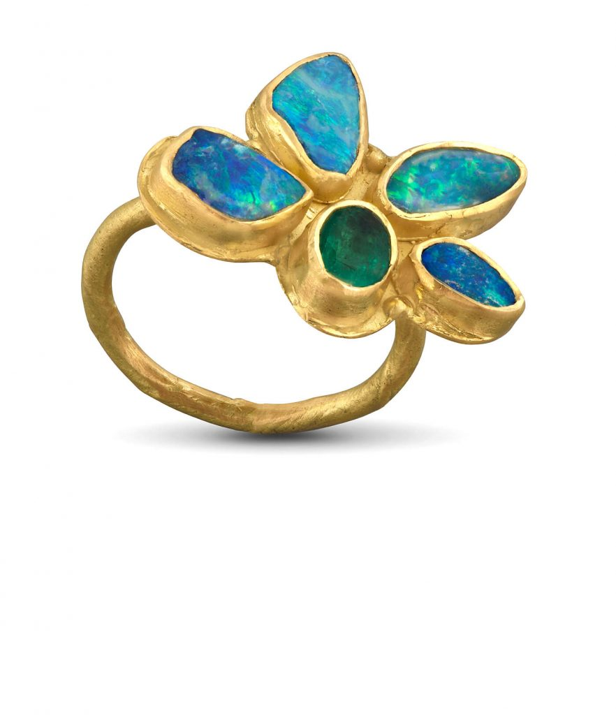 Lori Kaplan Jewelry: Opal and Emerald Ring